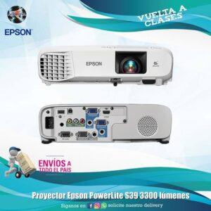 PROYECTOR EPSON POWERLITE S39 3300 LUME