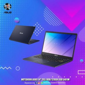 "Notebook Asus 14"" Cel/4GB/128GB SSD"