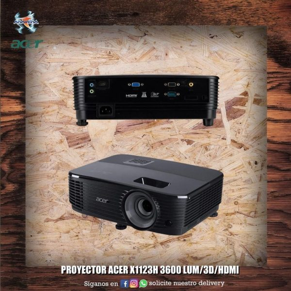 Proyector Acer X1123H 3600 lum/3d/hdmi..