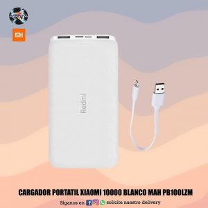 Cargador portátil Xiaomi 10000 MAH blanco Pb100lzm📲📱