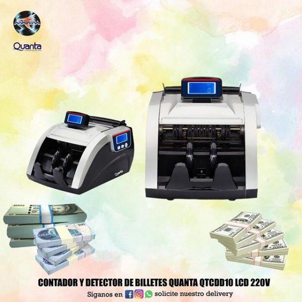 Contador y detector de billetes Quanta QTCDD10 LCD 220V 💵💶💴