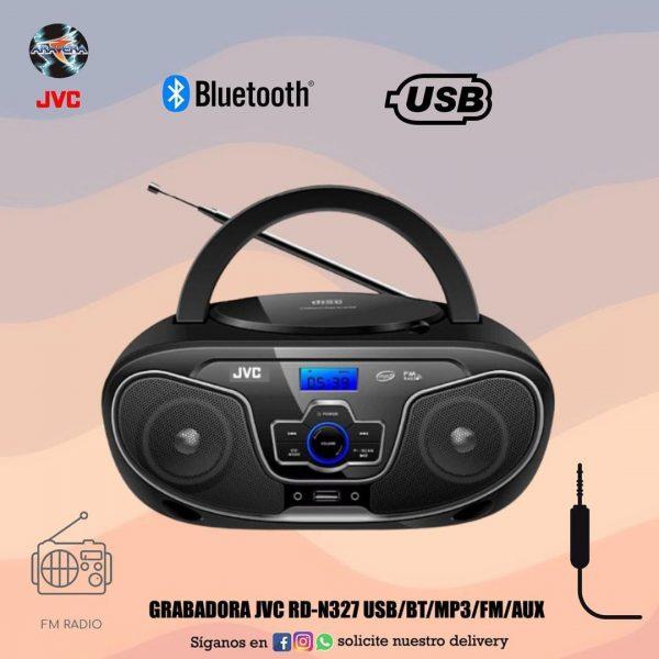 Grabadora JVC RD-N327 usb/bt/mp3/fm/aux 📱📀