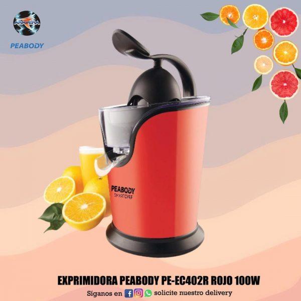 EXPRIMIDORA PEABODY PE-EC402R ROJP 1000W