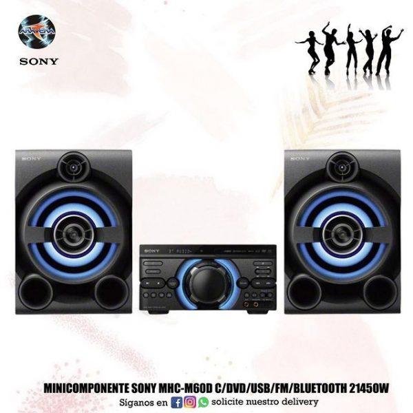 Minicompot Sony MHC-M60D c/dvd/usb/fm/Bluetooth 21450W 🎼