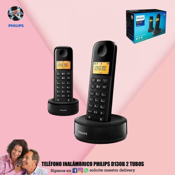 TELÉFONO INALÁMBRICO PHILIPS D130B 2 TUBOS