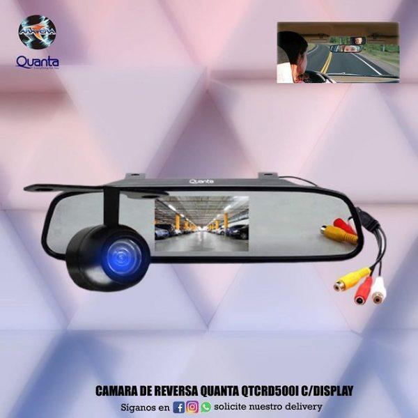 Camara de reversa Quanta QTCR500I C/Display 🚘🚍🚔