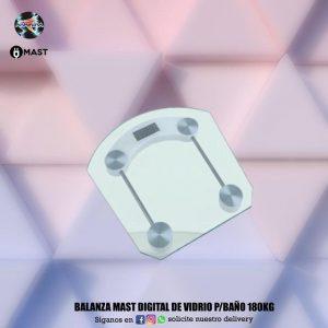 Balanza Mast digital de vidrio p/baño 180 kg 👩🏻🦱👩🏽