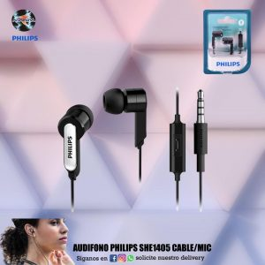 AUDIFONO PHILIPS SHE1405 CABLE/MIC