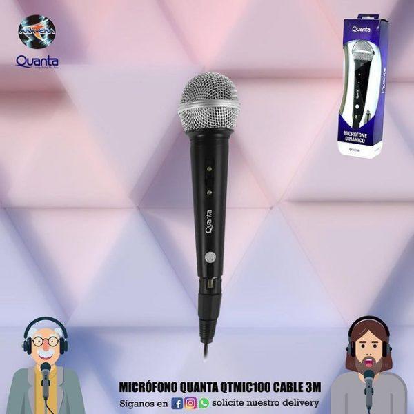 Microfono Quanta QTMIC100 cable 3 Mts. 🎤🎼🎤