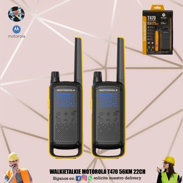 Walkietalkie Motorola T470 56KM 22CH👮♂️👷♂️🕵️♂️