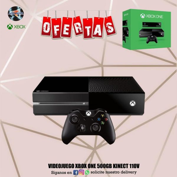 Videojuego Xbox One 500GB kinect 110V 🤩🤩🤩