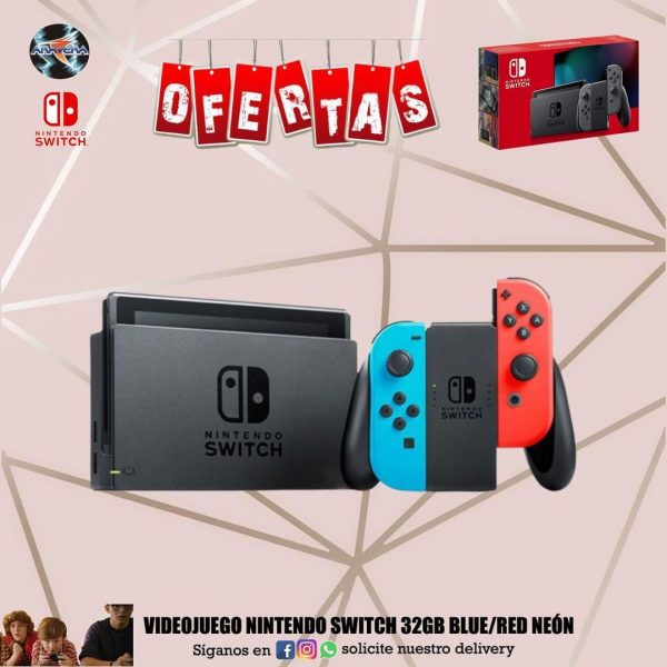 Videojuego Nintendo Switch 32GB blue/red neon 🤩🤩🤩