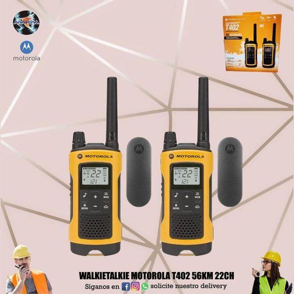 Walkietalkie Motorola T402 56KM 22CH👮♂️👷♂️🕵️♂️