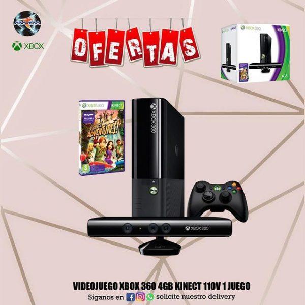VIDEOJUEGO XBOX 360 4GB KINECT 110V 1 JUEGO