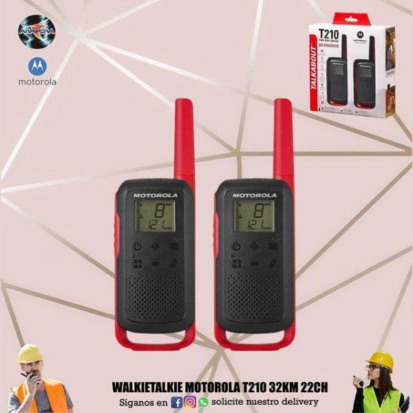 Walkietalkie Motorola T210 32KM 22CH👮♂️👷♂️🕵️♂️