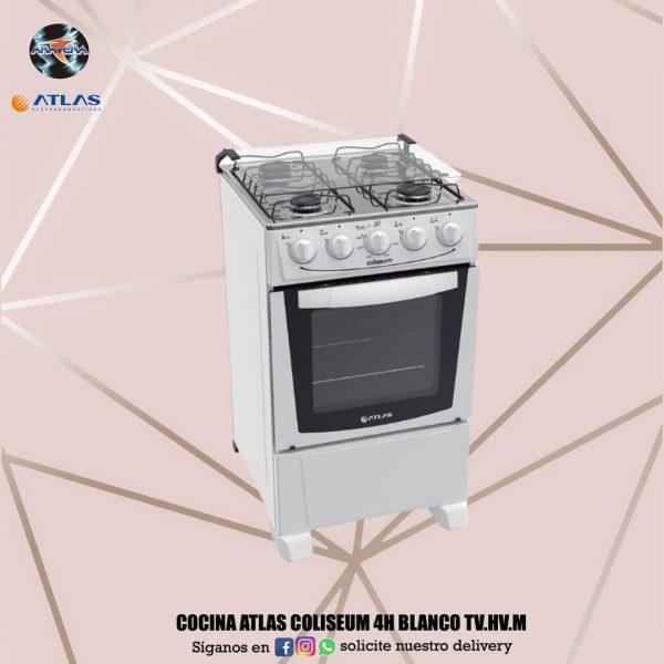 Cocina Atlas Coliseum 4H blanco tv.hv.mi 🍱🍲🍵