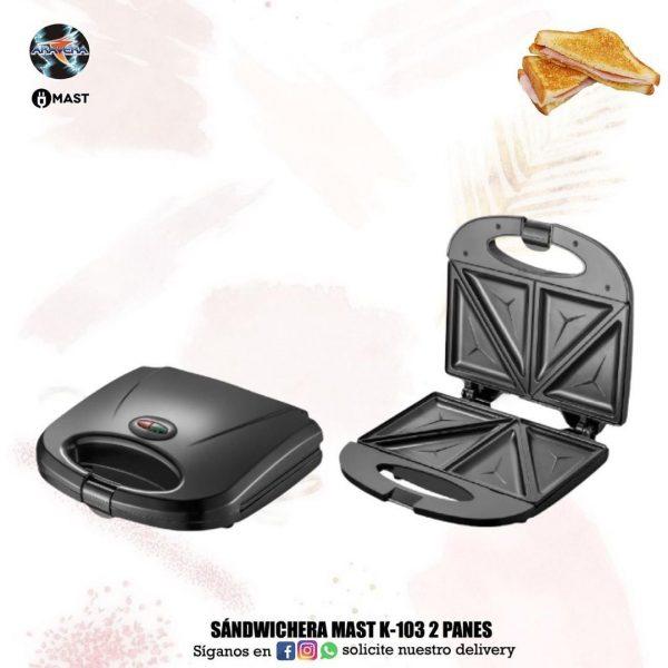 Sandwichera Mast K-103 2 PANES 🥪🧇