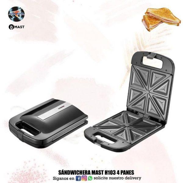 Sandwichera Mast H103 4 PANES 🥪🧇