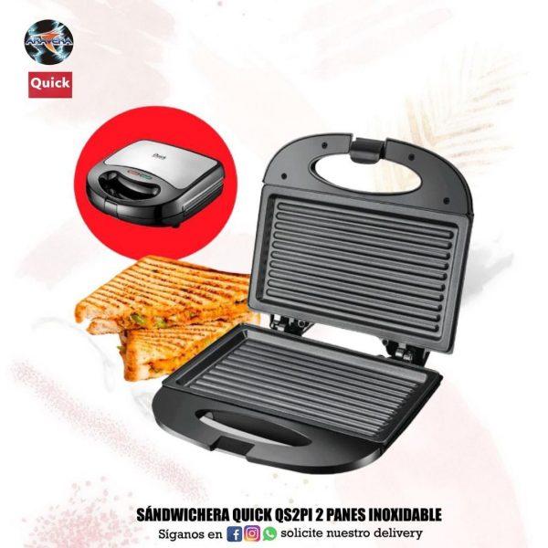 Sandwichera Quick QS2PI 2 PANES inoxidable 🥪🧇