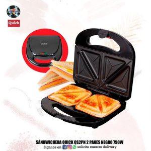 Sandwichera Quick QS2PN 2 PANES negro 750W 🥪🧇