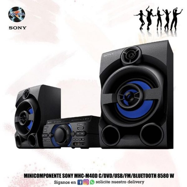 Minicompot Sony MHC-M40D c/dvd/usb/fm/Bluetooth 8580W 🎼🥳
