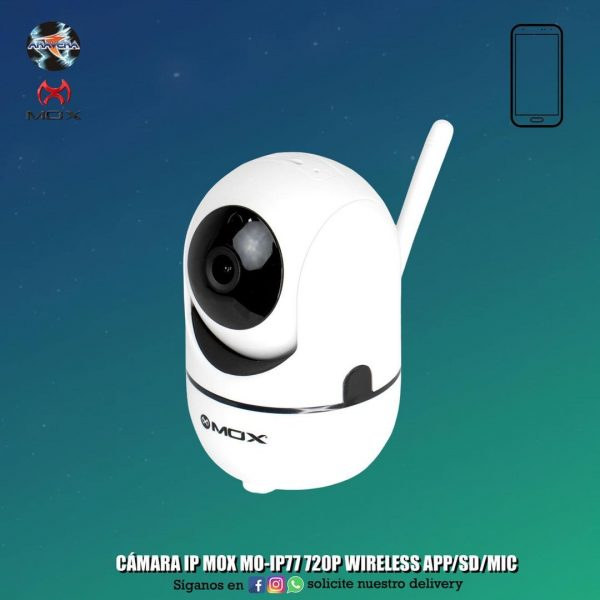 CÁMARA IP MOX MO-IP77 720P WIRELESS APP/SD/MIC
