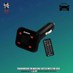TRANSMISOR FM MOX MO-CBT20 MP3/FM/USB
